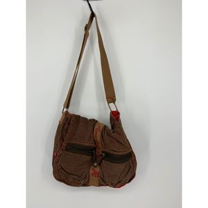 American Eagle brown corduroy messenger bag